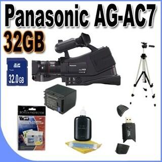 Panasonic AG-AC7 Shoulder Mount AVCHD Camcorder W/32GB SDHC Memory Bundle!