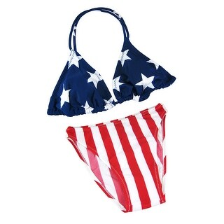 American Flag Triangle Top Bikini USA U.S. Stars Stripes