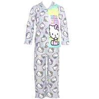 Hello Kitty Little Girls Grey Character Print Button 2 Pc Pajama Set 6-6X