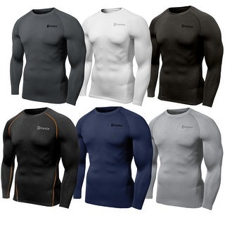 Tesla R34 Thermal Winter Baselayer Fleece-Lined Long Sleeve Compression Shirt (Option: Xs)