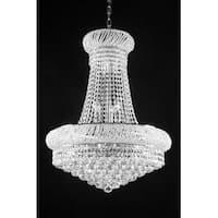 Swarovski Elements Crystal Trimmed French Empire Lighting H24x W32