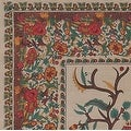 Handmade 100% Cotton Tree of Life Tapestry Tablecloth Bedspread Coverlet Beach Sheet Tan Twin Full Queen & King - Thumbnail 5