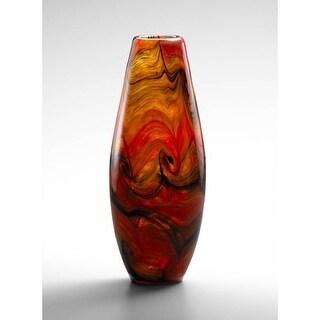 """Cyan Design 4363 13"""" Large Italian Vase - caramel swirl"""