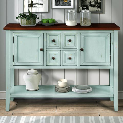 Buffet Sideboard Console Table with Bottom Shelf