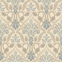 Brewster 2535-20646 Fusion Blue Ombre Damask Wallpaper