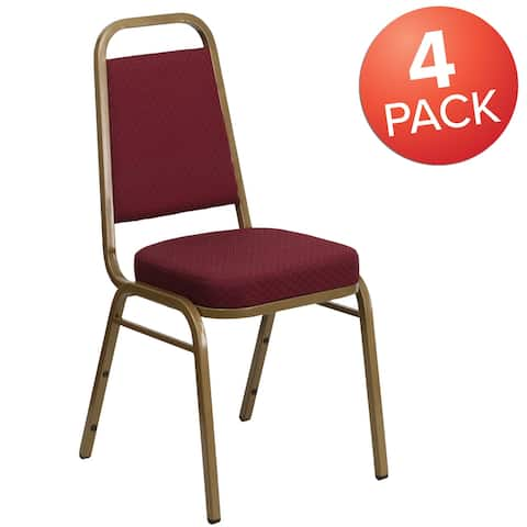 4 Pack Trapezoidal Back Stacking Banquet Chair