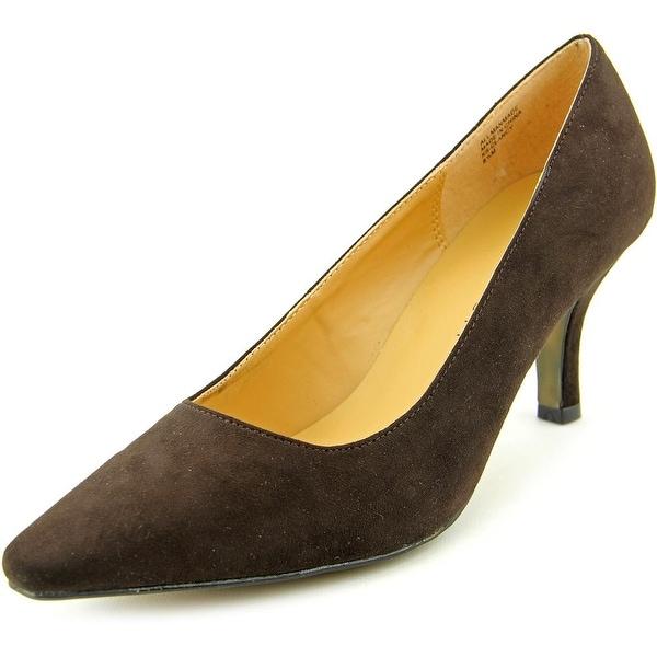 Karen Scott Clancy Women Pointed Toe Synthetic Brown Heels