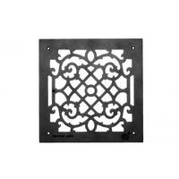 Heat Air Grille Cast Victorian Overall 14 x 14