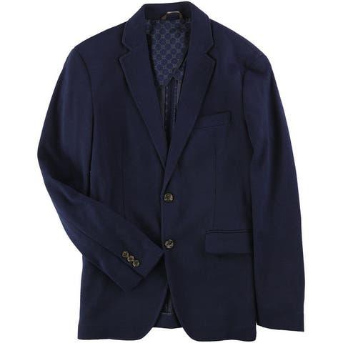 Tasso Elba Mens Stretch Two Button Blazer Jacket
