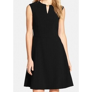 Tahari by ASL NEW Black Womens Size 8 Keyhole Fit Flare Sheath Dress