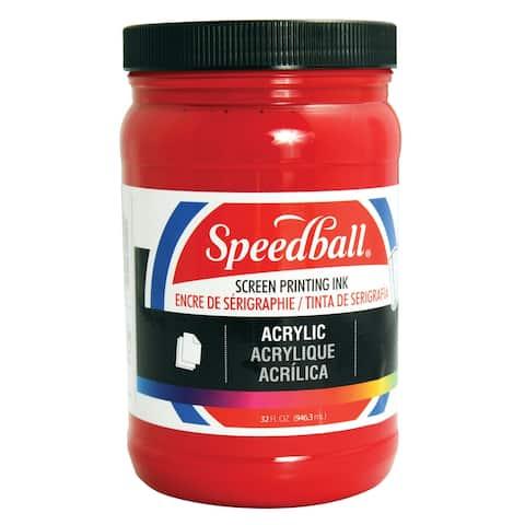 Speedball 4646 acrylic screen printing ink medium red 32oz.