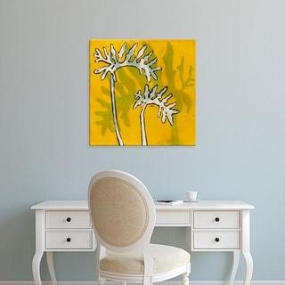 Easy Art Prints Andrea Davis's 'Gold Batik Botanical V' Premium Canvas Art