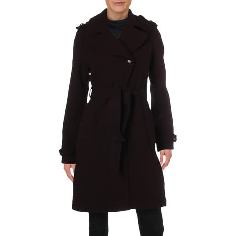 Guess Womens Midi Coat Winter Wool