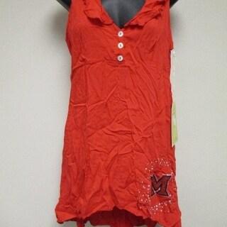 Miami University Redhawks Womens XS S M L Designer Shirt Tunic MEESH MIA