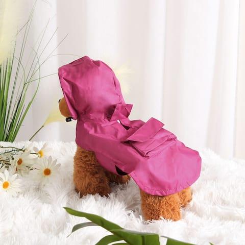 Pet Dog Raincoat Rain Jacket Poncho Cloth Nylon Puppy Water-resistant Rainwear