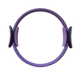 "14"" Black Magic Pilate Ring Circle Magic Exercise Fitness Workout Sport Weight Loss Purple"