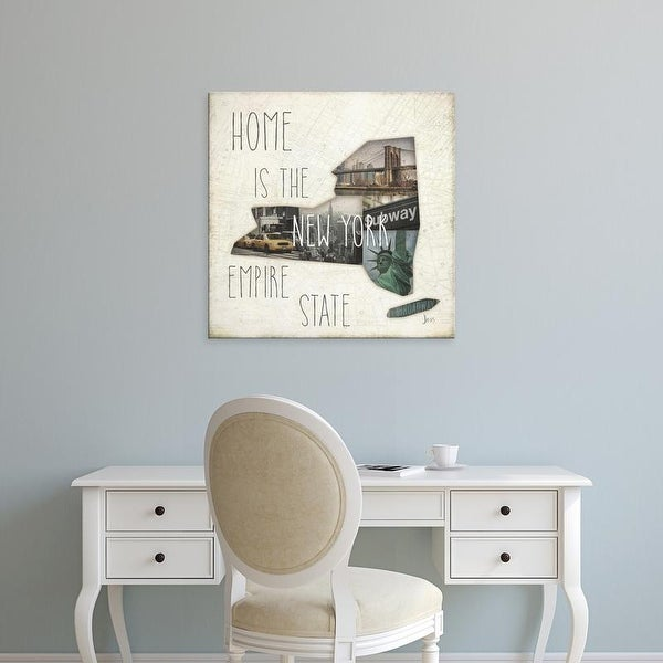 Easy Art Prints Jess Aiken's 'InstaState II Square' Premium Canvas Art