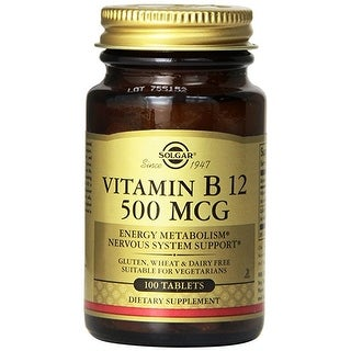 Solgar Vitamin B12 500 Mcg Tablets 100