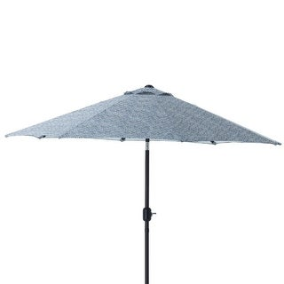 9'Blue Relaxing Day Blue Decorative Market Umbrella with Hand Crank and Tilt