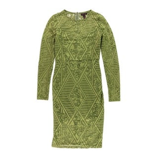 Link to Material Girl Womens Lace Illusion Bodycon Dress, green, Small Similar Items in Dresses