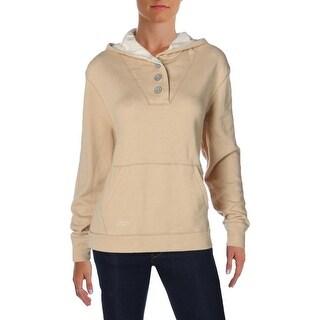 Lauren Ralph Lauren Womens Sweatshirt French Terry 1/4 Button