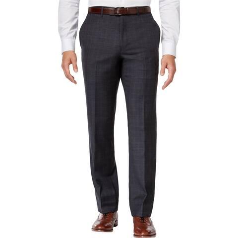 Tommy Hilfiger Mens Window Dress Pants Slacks, Grey, 36W x 32L