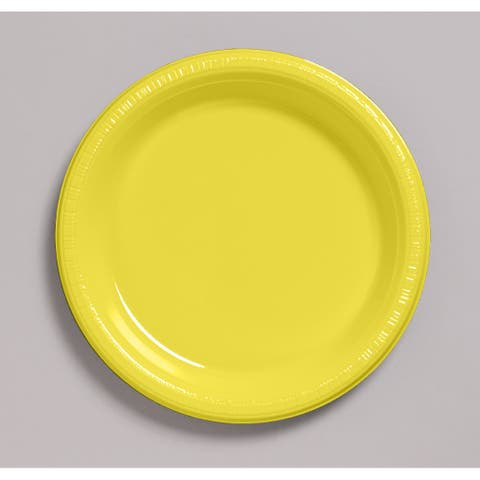 "Touch of Color 20 Count 7"" Heavy Duty Plastic Plates Mimosa - Multi"