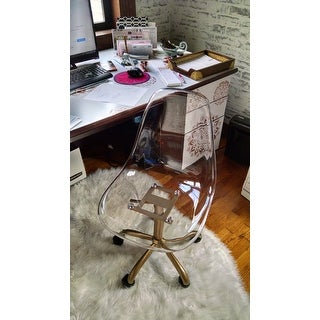 Shop South Shore Clear Acrylic Office Chair With Wheels