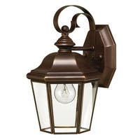 "Hinkley Lighting H2420 10.75"" Height 1-Light Lantern Outdoor Wall Sconce from the Clifton Park Collection - copper bronze - n/a"