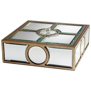 """Cyan Design 5935 4.5"""" Through The Lens Container - clear / gold"""