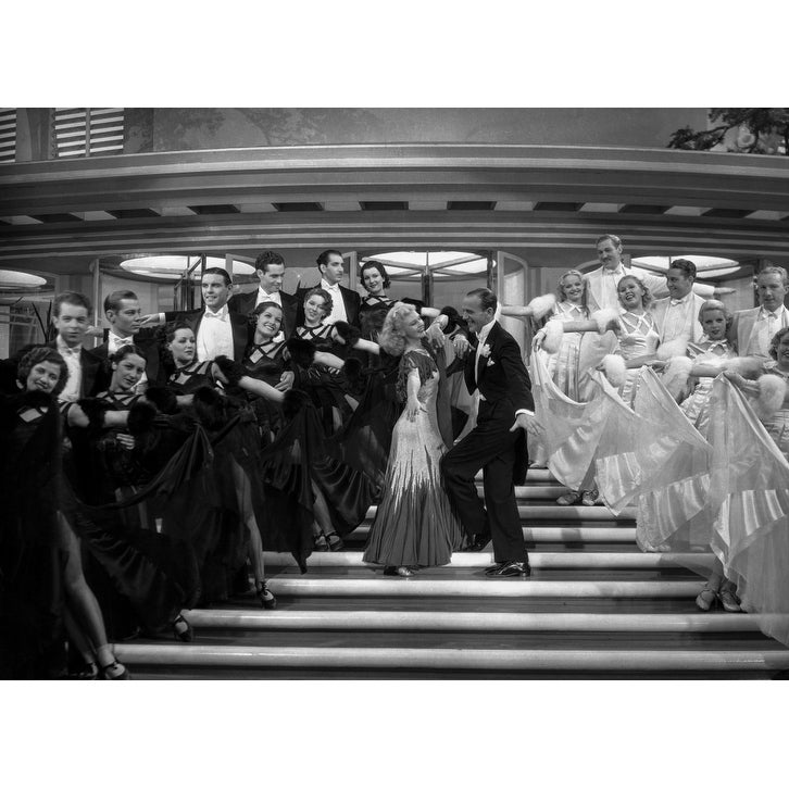Shop Fred Astaire And Ginger Rogers Dancing On Stairs Photo Print Overstock 25376038