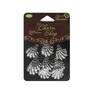 Sweet Beads Charm Shop Mtl Shell Silver 11pc