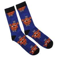 Five Nights At Freddy's Freddy Fazbear Men's Crew Socks, One Pair - Blue