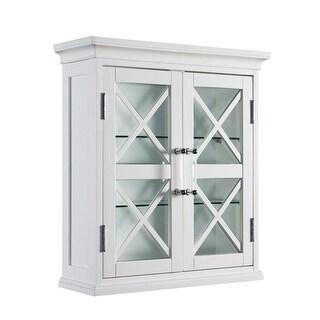 Elegant Home Fashions ELG-629 Blue Ridge 2 Door Wall Cabinet in White