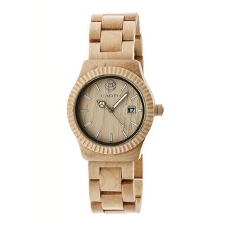 Earth Wood Pith Unisex Quartz Watch, Wood Band, Luminous Hands