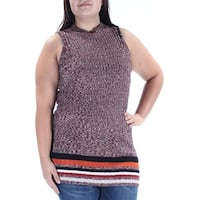 INC Womens Red Sleeveless Turtle Neck Top  Size: L