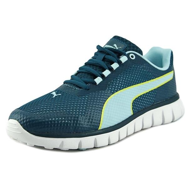 Puma Blur Women Round Toe Canvas Blue Tennis Shoe