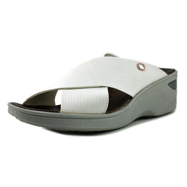d754f2fe3cb Shop BZees Desire Women Open Toe Synthetic White Wedge Heel - Free ...
