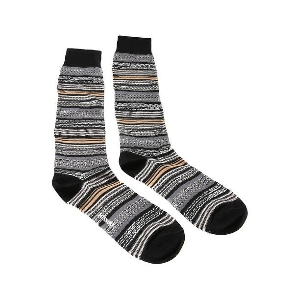 Missoni GM00CMU5236 0004 Gray/Black Knee Length Socks - Grey