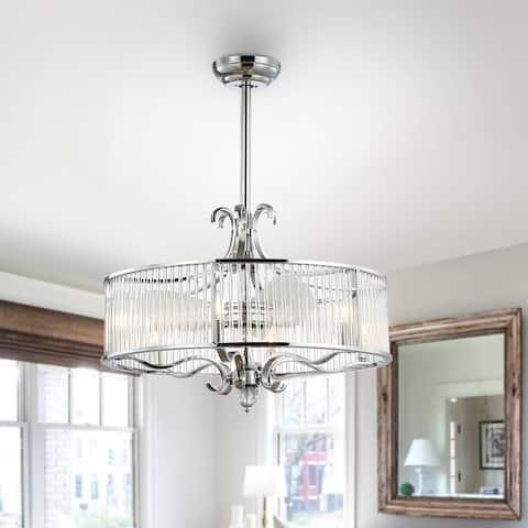 "SAFAVIEH Lighting 30-Inch Geneve Ceiling Light Fandelier (with Remote) - 30"" W x 30"" L x 36.5"" H"