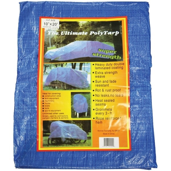 HOWARD BERGER V1020 Reinforced Plastic Tarp (10ft x 20ft)