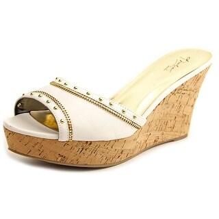 Thalia Sodi Estella Women  Open Toe Synthetic White Wedge Sandal
