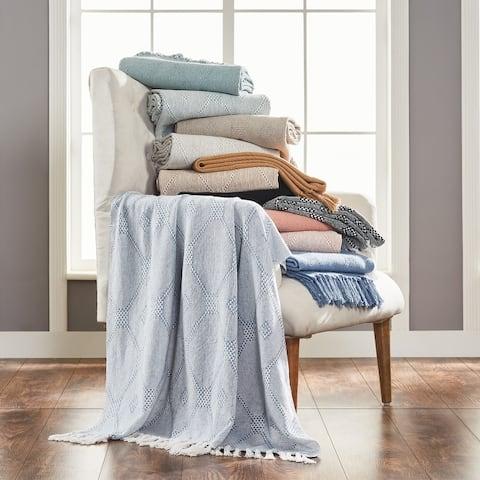 Modern Threads 2 Pack Chester 100-Percent Cotton Throw 50x60