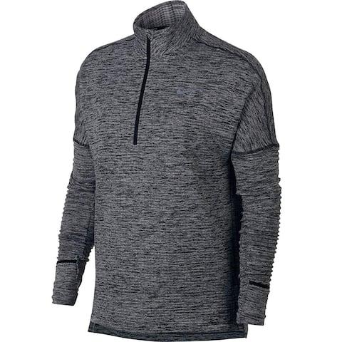 Nike Women's Long Sleeve Half Zip Running Shirt Black Heather Size Small