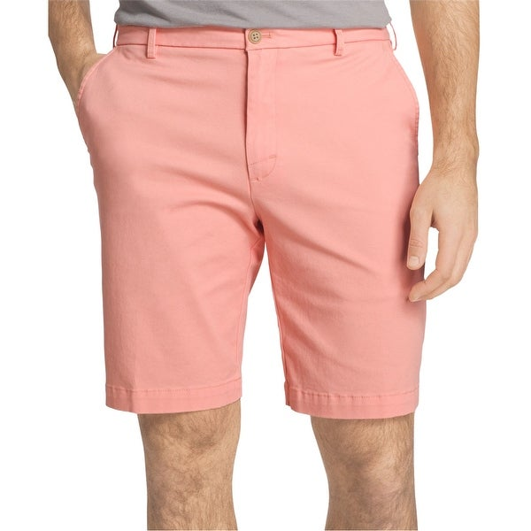 be9b731e83 IZOD Men's Saltwater Stretch Chino Shorts Cascade Size 30 - Pink