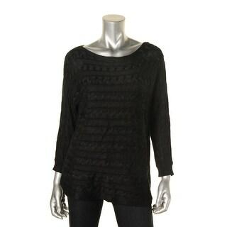 Lauren Ralph Lauren Womens Sweater Cable Knit Dolman Sleeve