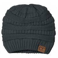 Gravity Threads CC Knit Soft Stretch Beanie Cap, Melange Grey - Melange Grey