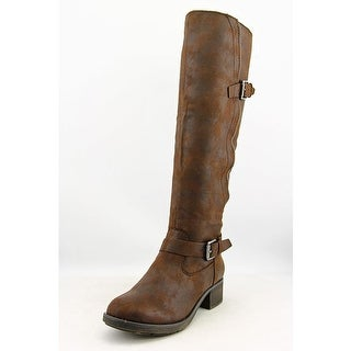 Style & Co Gayge Women Round Toe Synthetic Brown Knee High Boot