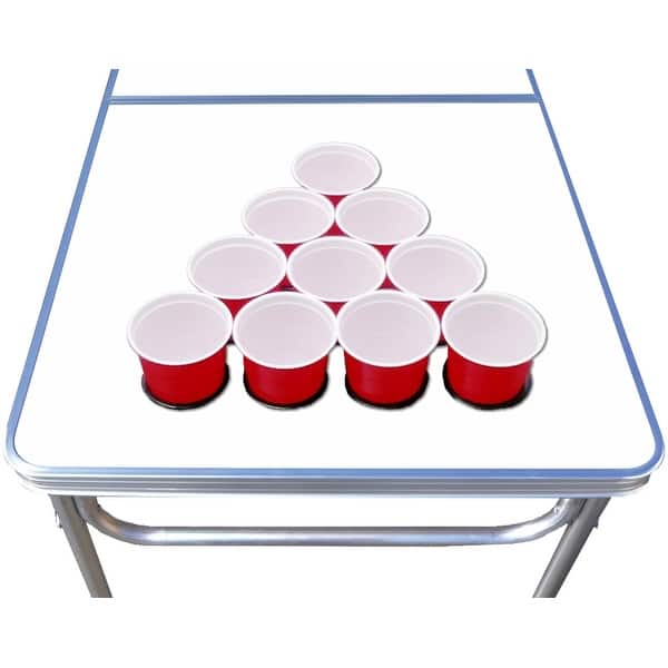 Shop 8 Ft Beer Pong Table W Optional Cup Holes Led Lights