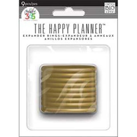 Gold - Create 365 Planner Expander Rings 9/Pkg